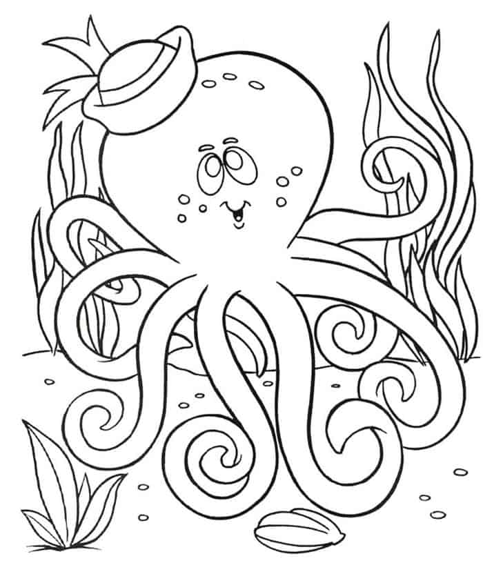 cute octopus coloring page cute octopus coloring pages getcoloringpagescom cute coloring octopus page