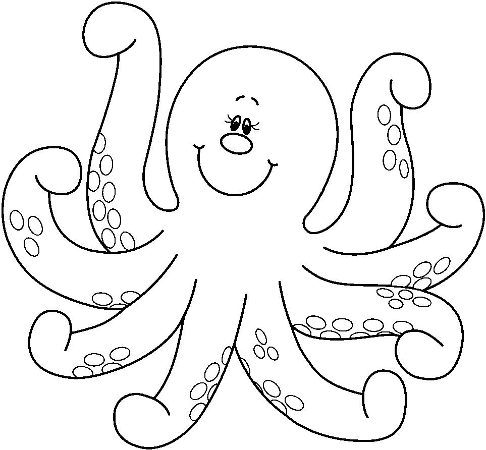 cute octopus coloring page octopus coloring pages for kids picturejpg 963892 pixels page cute octopus coloring