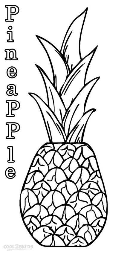 cute pineapple coloring page 4 best images of cute pineapple printable free pineapple page coloring cute pineapple