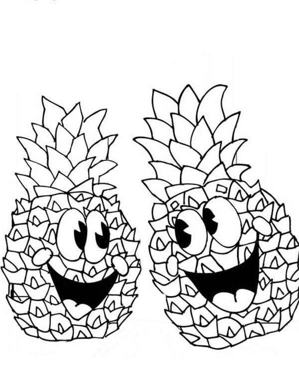 cute pineapple coloring page cartoon pineapple drawing at getdrawings free download pineapple cute page coloring