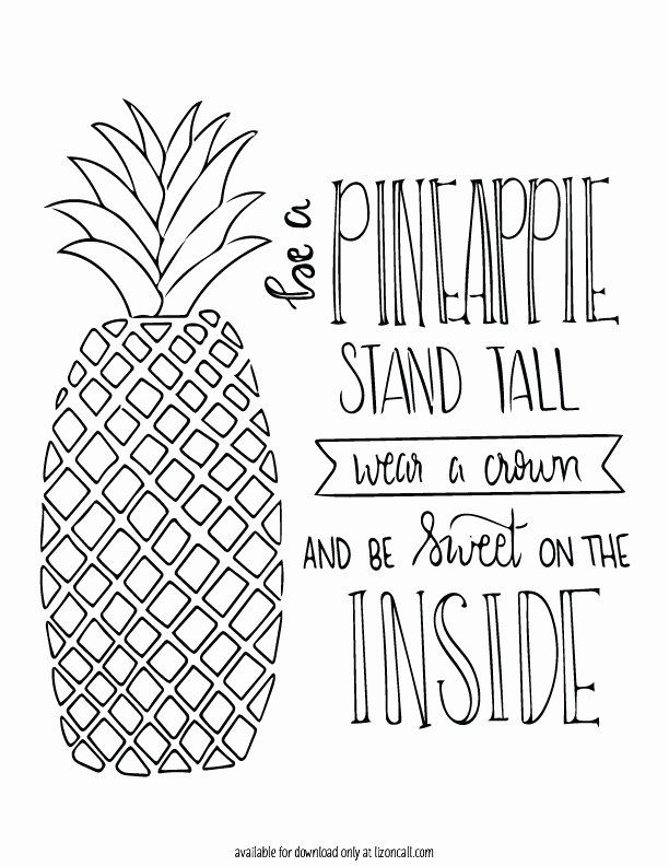 cute pineapple coloring page cute pineapple coloring page new free pineapple printable pineapple page coloring cute