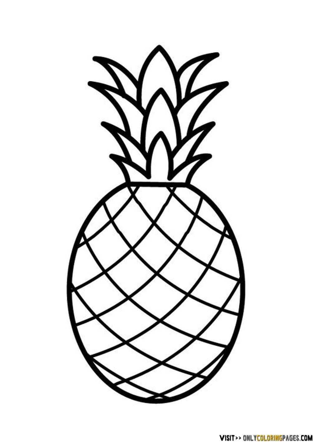 cute pineapple coloring page cute pineapple coloring page new pineapple outline drawing cute pineapple page coloring