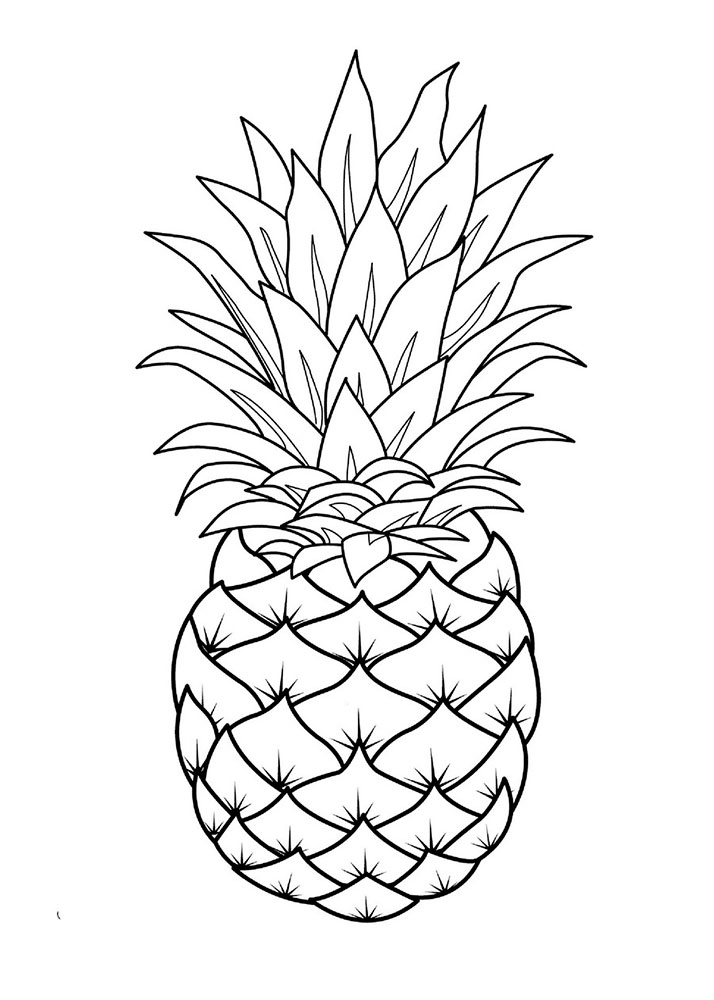 cute pineapple coloring page pineapple coloring pages to download and print for free pineapple cute page coloring