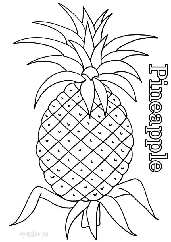 cute pineapple coloring page printable pineapple coloring pages for kids cool2bkids cute coloring pineapple page