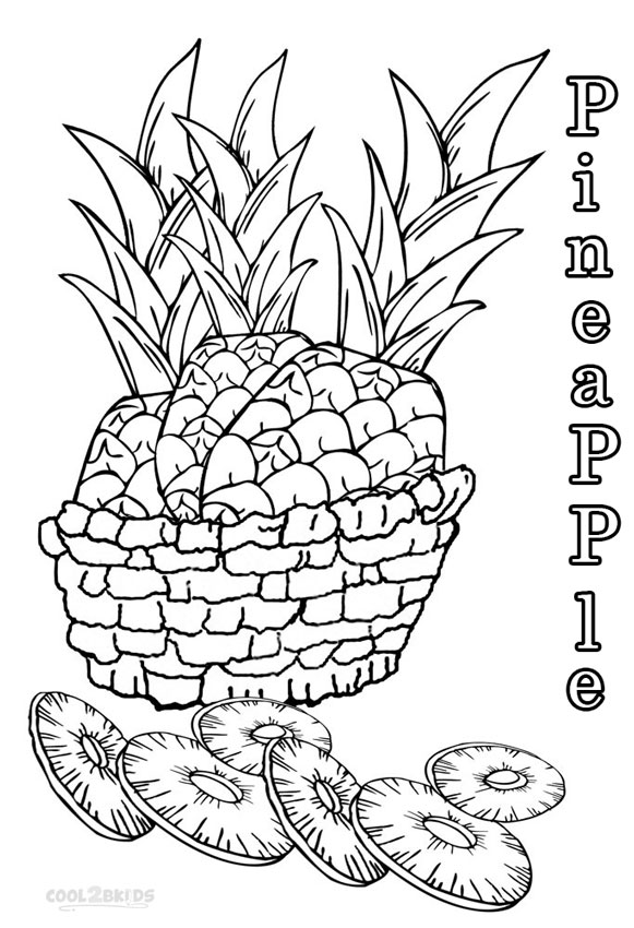 cute pineapple coloring page printable pineapple coloring pages for kids cool2bkids pineapple coloring cute page