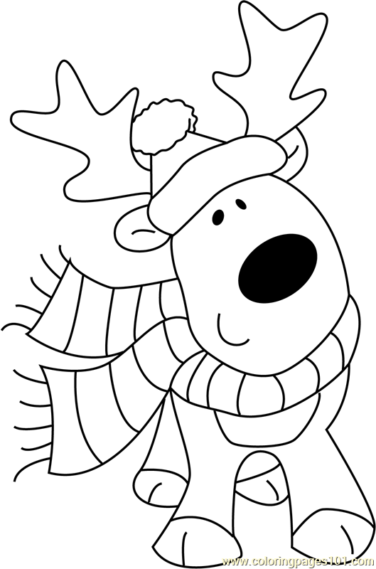 cute reindeer coloring pages christmas cute deer coloring page free christmas animals coloring reindeer cute pages