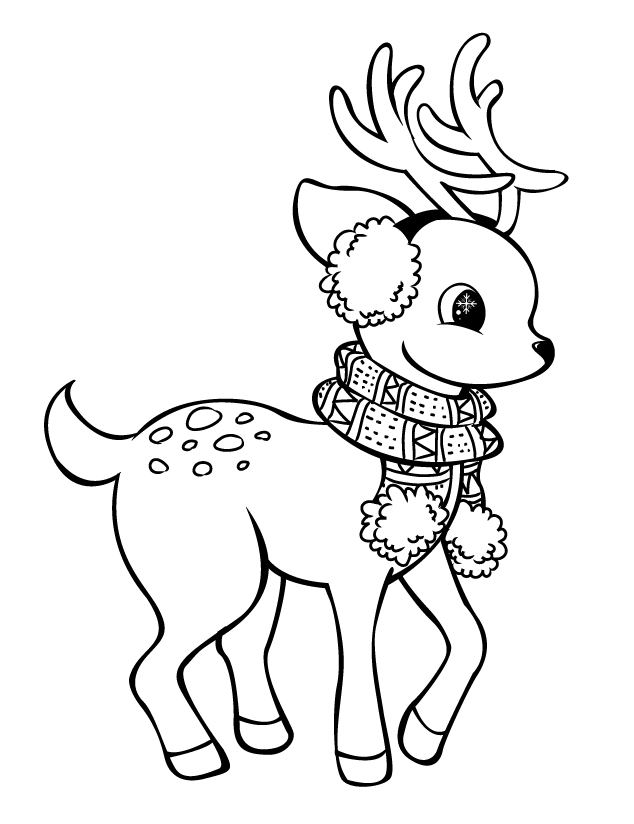cute reindeer coloring pages cute baby reindeer coloring page animal coloring pages reindeer coloring pages cute