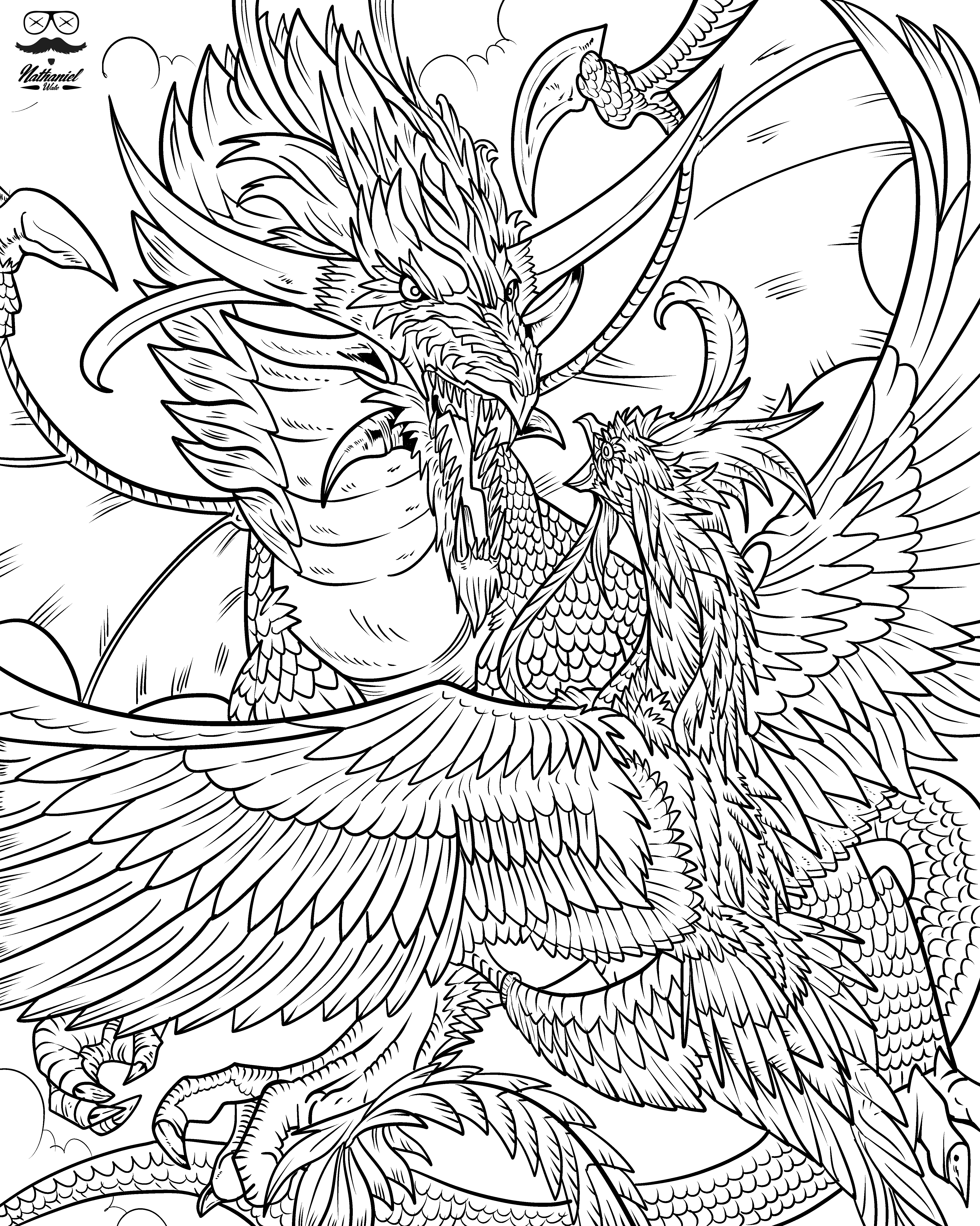 d is for dragon coloring page halloween dragon with pumpkins a printable coloring page coloring for is d page dragon