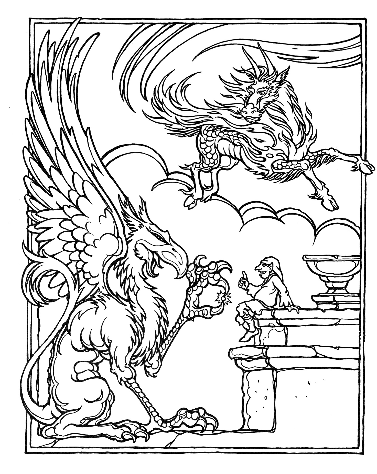 d is for dragon coloring page monsters and heroes of the realms a dungeons dragons for page is d coloring dragon