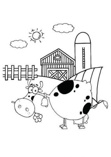 dairy farm coloring pages 30 free farm coloring pages printable scribblefun dairy pages coloring farm
