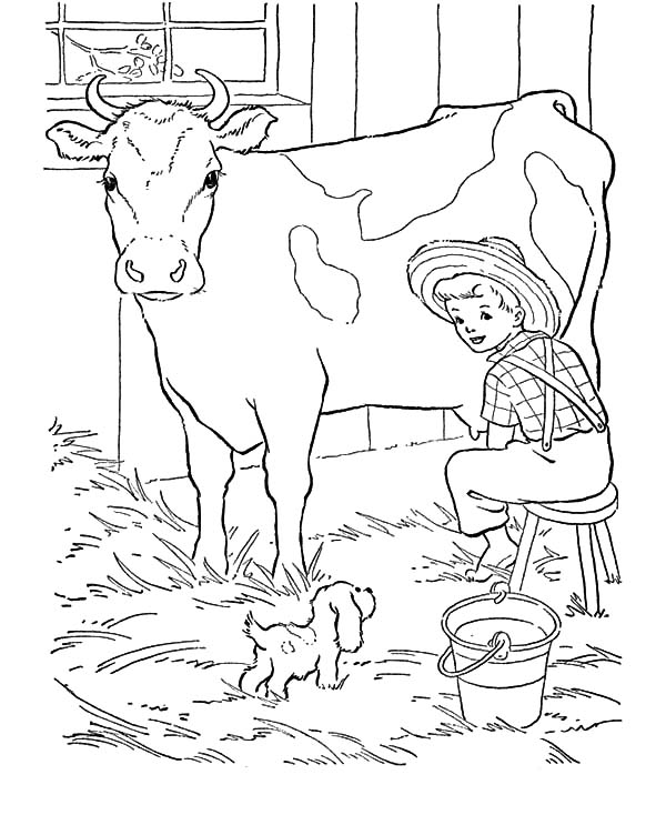 dairy farm coloring pages dairy cow netart pages coloring farm dairy
