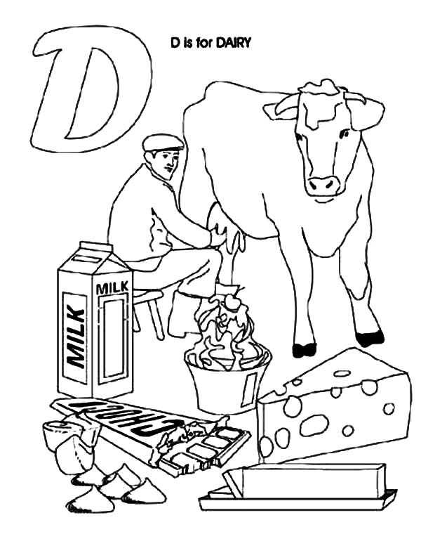 dairy farm coloring pages dairy cow produce fresh milk coloring pages netart farm dairy pages coloring