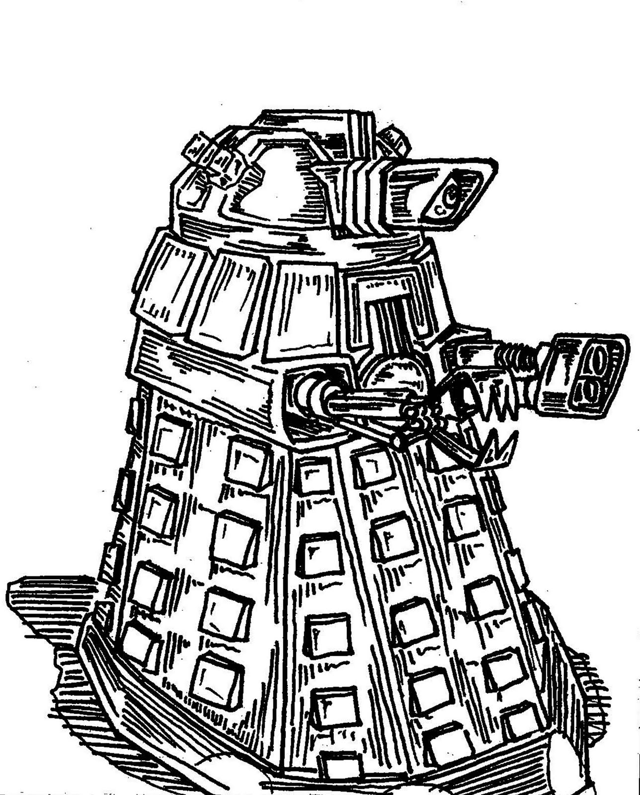 dalek pictures to colour dalek lineart by slycherrychunksdeviantartcom on pictures dalek colour to