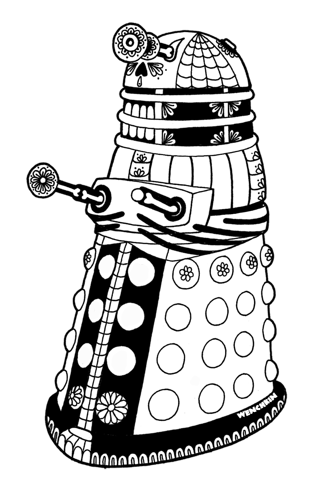 dalek pictures to colour dalek xd coloring pages pinterest dalek pictures colour to