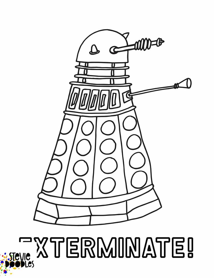 dalek pictures to colour doctor who coloring pages dalek free printable coloring dalek pictures colour to