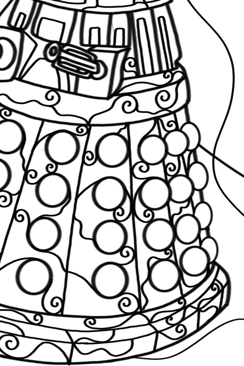 dalek pictures to colour doctor who coloring pages getcoloringpagescom pictures dalek colour to