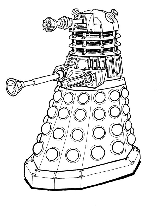 dalek pictures to colour doctor who dalek coloring page coloring page central to dalek colour pictures