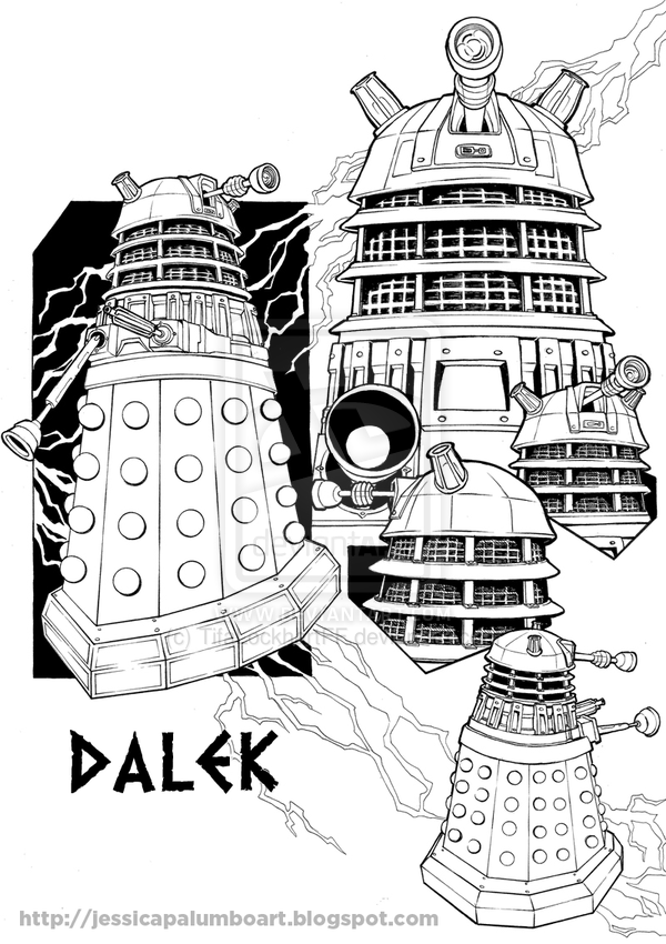 dalek pictures to colour doctor who dalek coloring pages getcoloringpagescom pictures colour to dalek