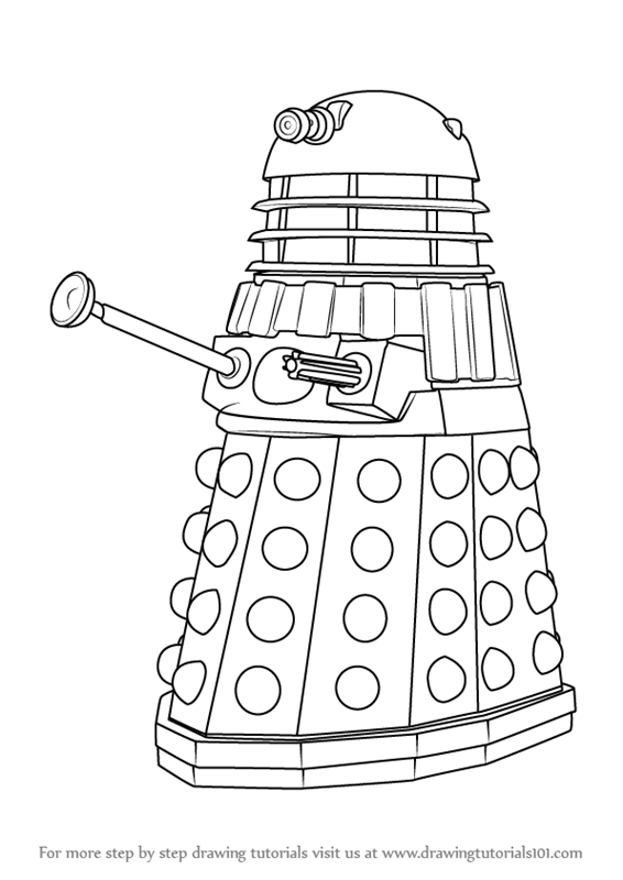 dalek pictures to colour doctor who dalek coloring pages getcoloringpagescom pictures dalek colour to