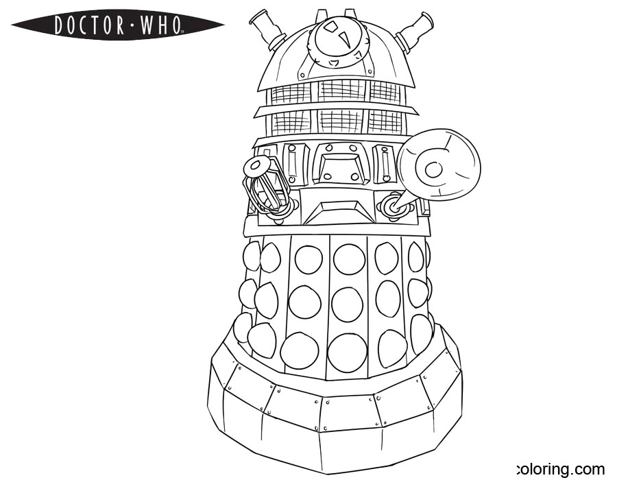 dalek pictures to colour doctor who dalek coloring pages getcoloringpagescom to colour dalek pictures