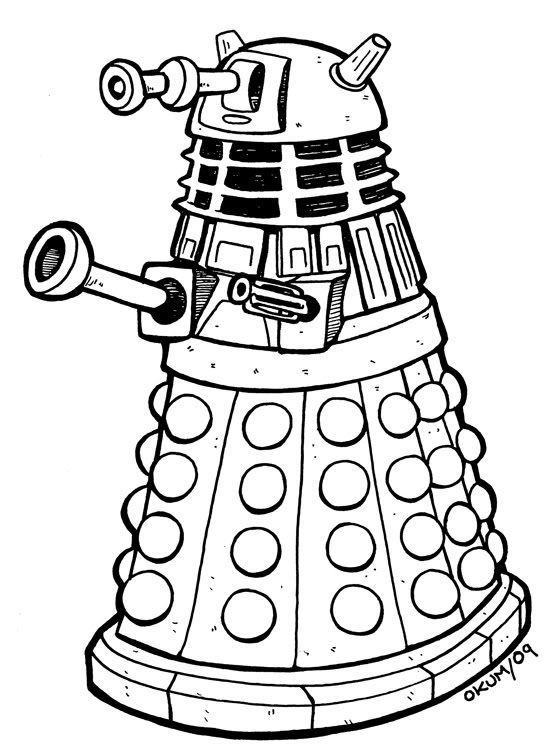 dalek pictures to colour dr who and dalaks free coloring pages dalek to colour pictures