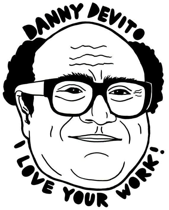 danny devito coloring page frank vinyl decal sticker it39s always sunny in coloring devito page danny