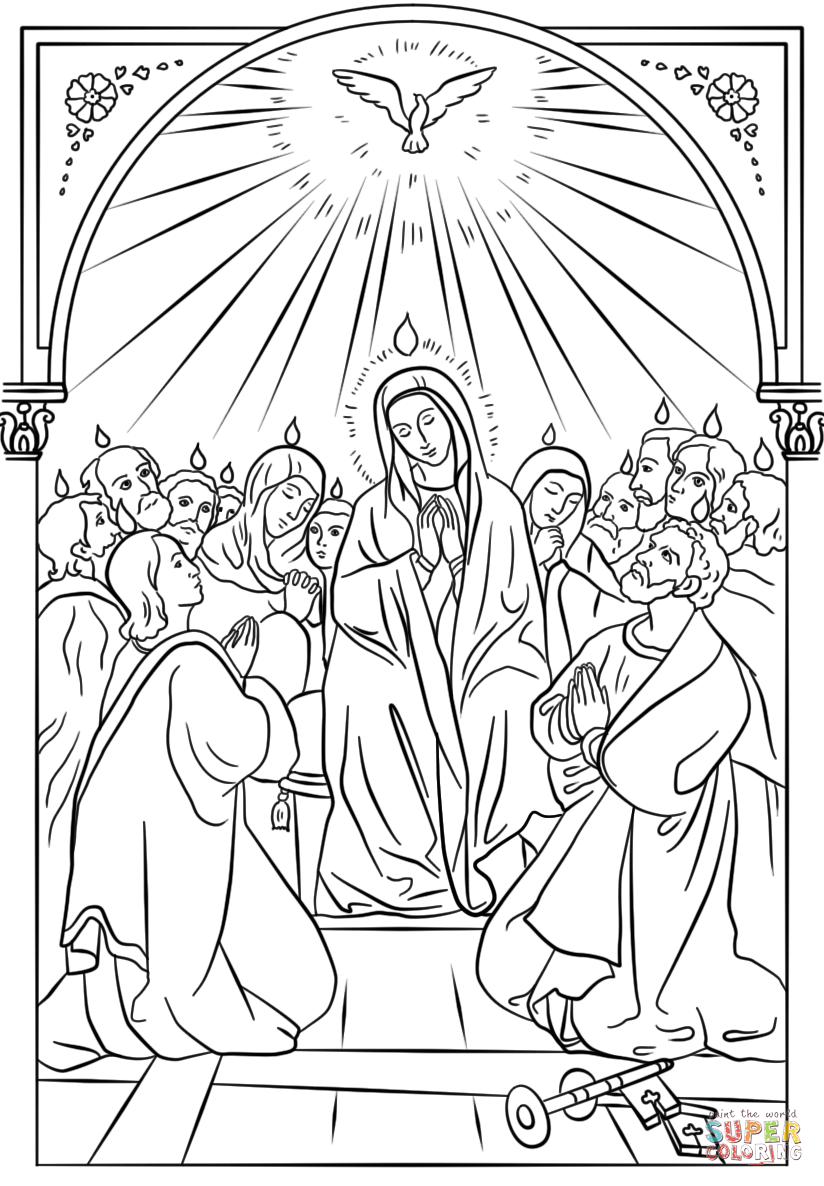 day of pentecost coloring pages feast of the weeks in pentecost coloring page color luna pages day coloring of pentecost