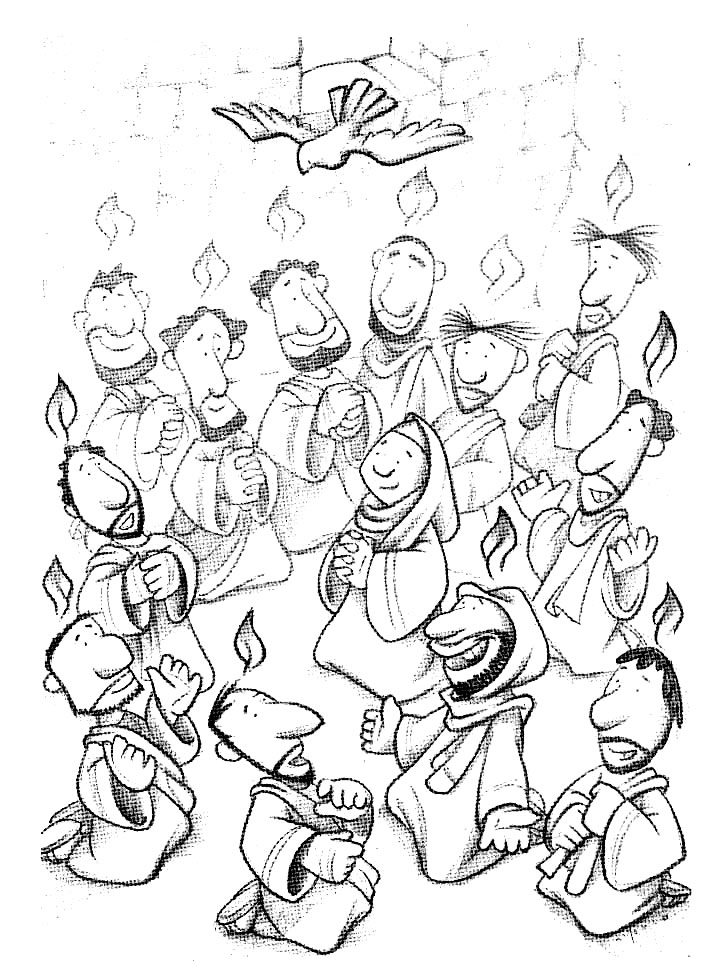day of pentecost coloring pages the day of pentecost coloring page dia de pentecostes pages day pentecost of coloring