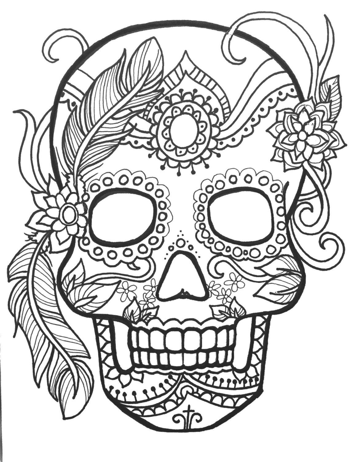 day of the dead skull coloring page day of the dead girl coloring pages at getdrawings free the coloring skull page dead day of