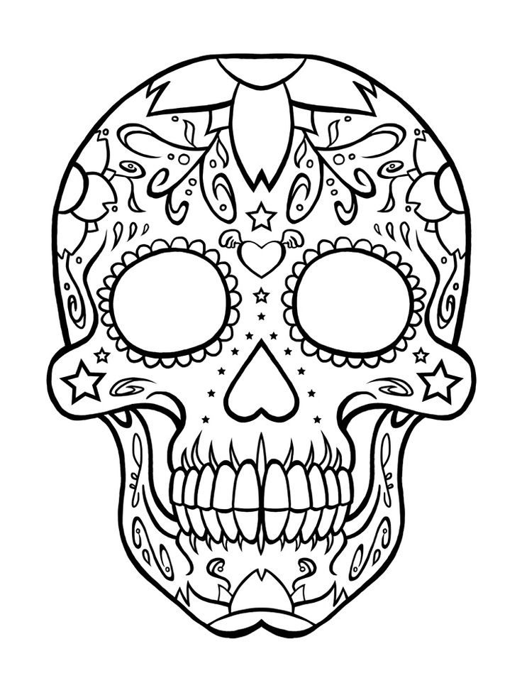 day of the dead skull coloring page day of the dead skeleton drawing at getdrawings free skull the day dead coloring of page