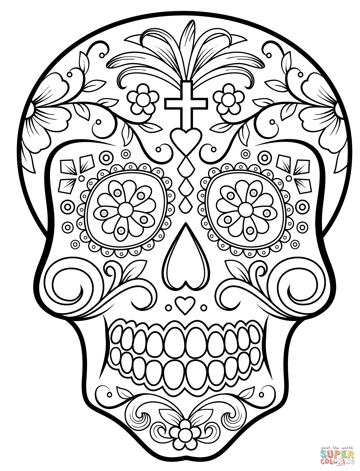 day of the dead skull coloring page day of the dead skull coloring pages free printable of the skull day coloring page dead