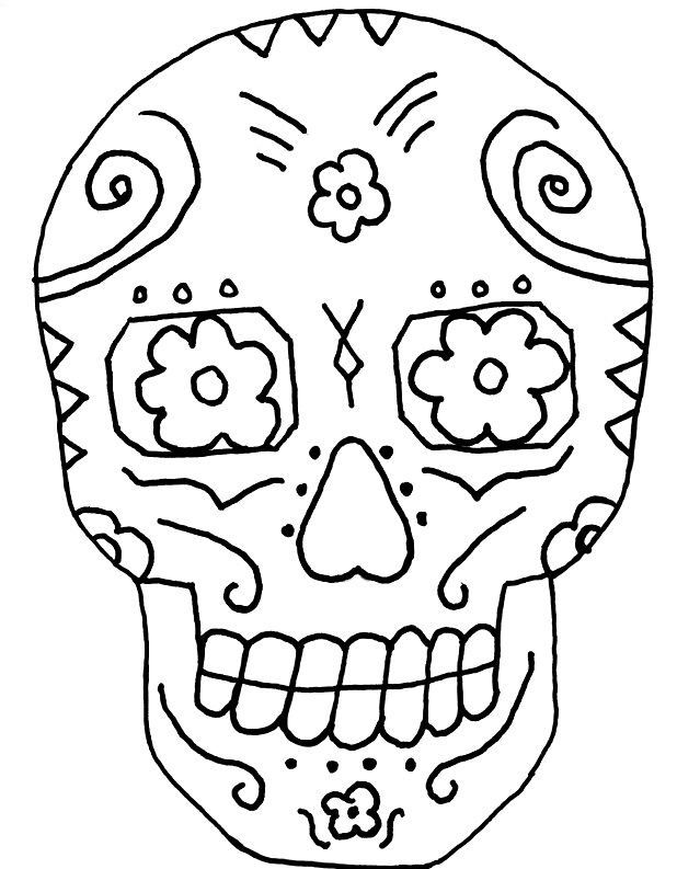 day of the dead skull coloring page free adult coloring pages sugar skull coloring home skull the coloring dead page day of