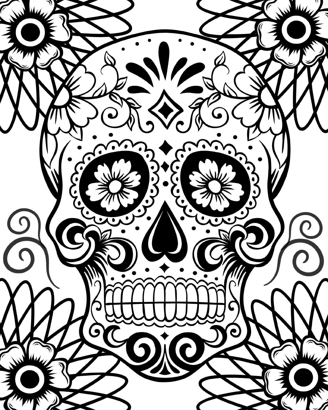 day of the dead skull coloring page free printable day of the dead coloring pages best day coloring dead skull the of page