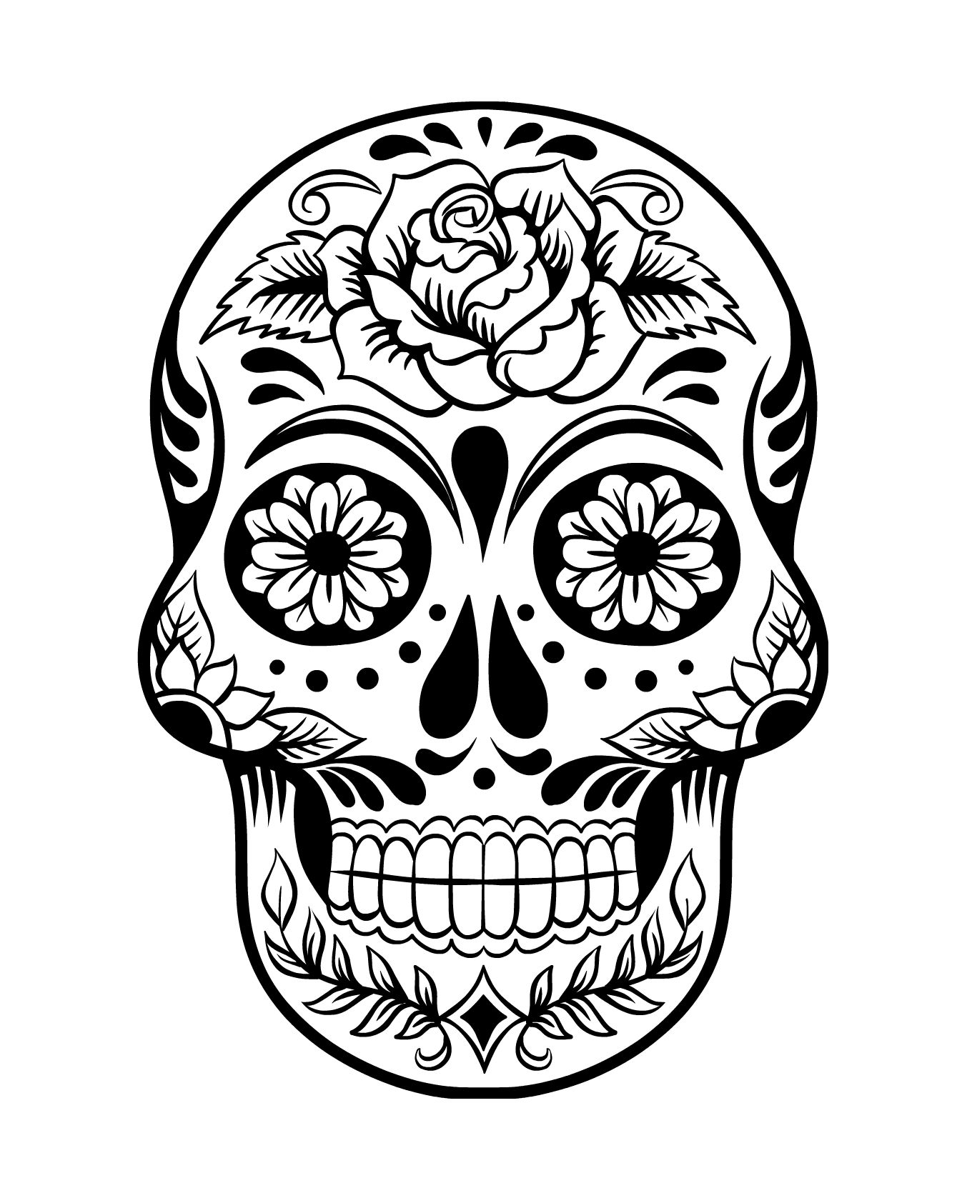 day of the dead skull coloring page free printable day of the dead coloring pages best day coloring of page skull dead the