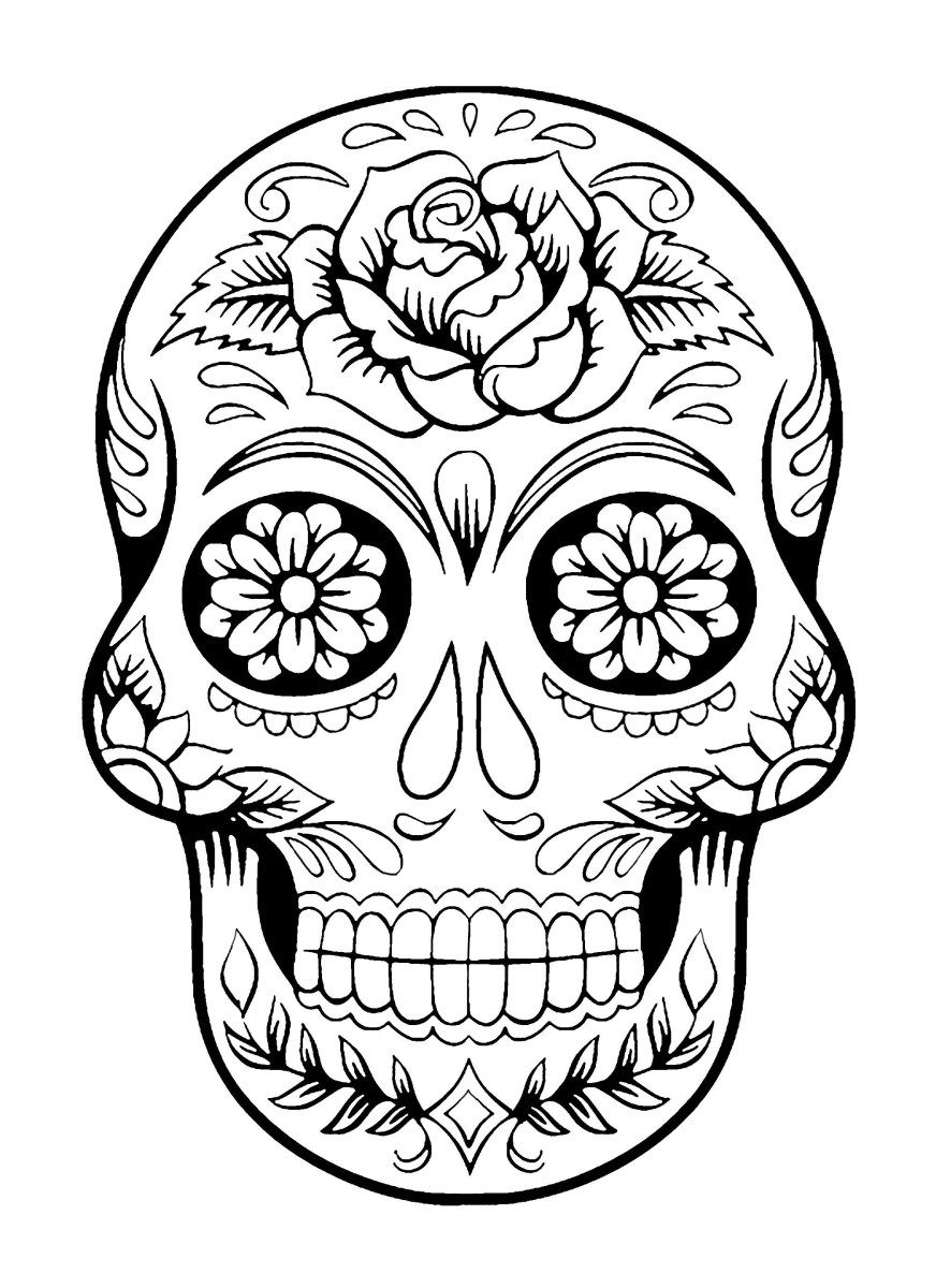 day of the dead skull coloring page sugar skull coloring pages and masks for día de muertos of skull page the day coloring dead