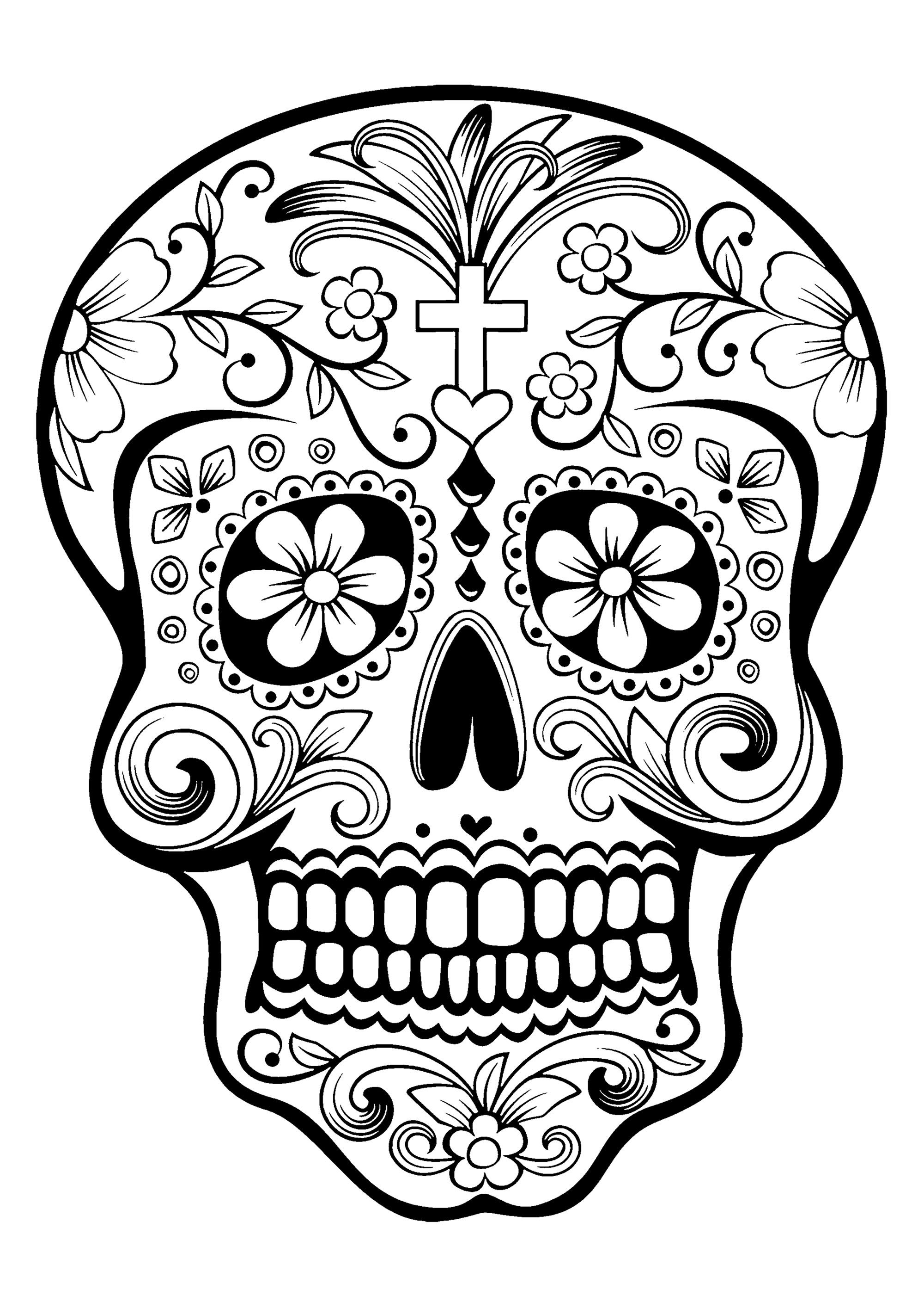 day of the dead skull coloring page sugar skull coloring pages coloring home the of day page dead skull coloring