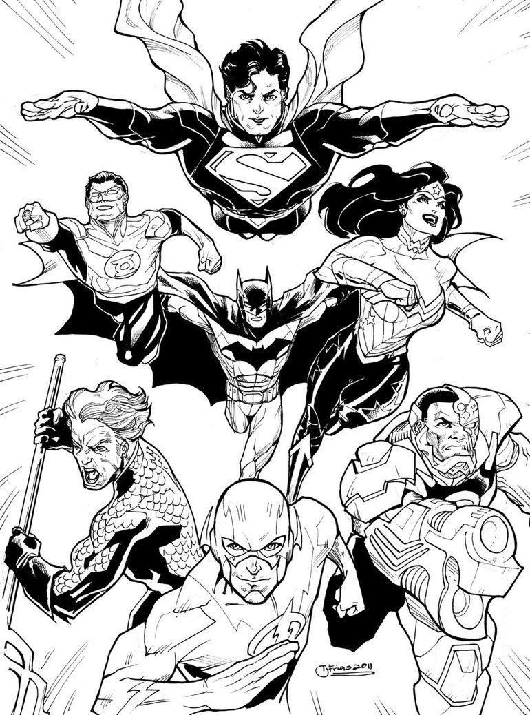 dc comics coloring book pages dcnu justice league 2011 by guinnessyde on deviantart dc book pages coloring comics