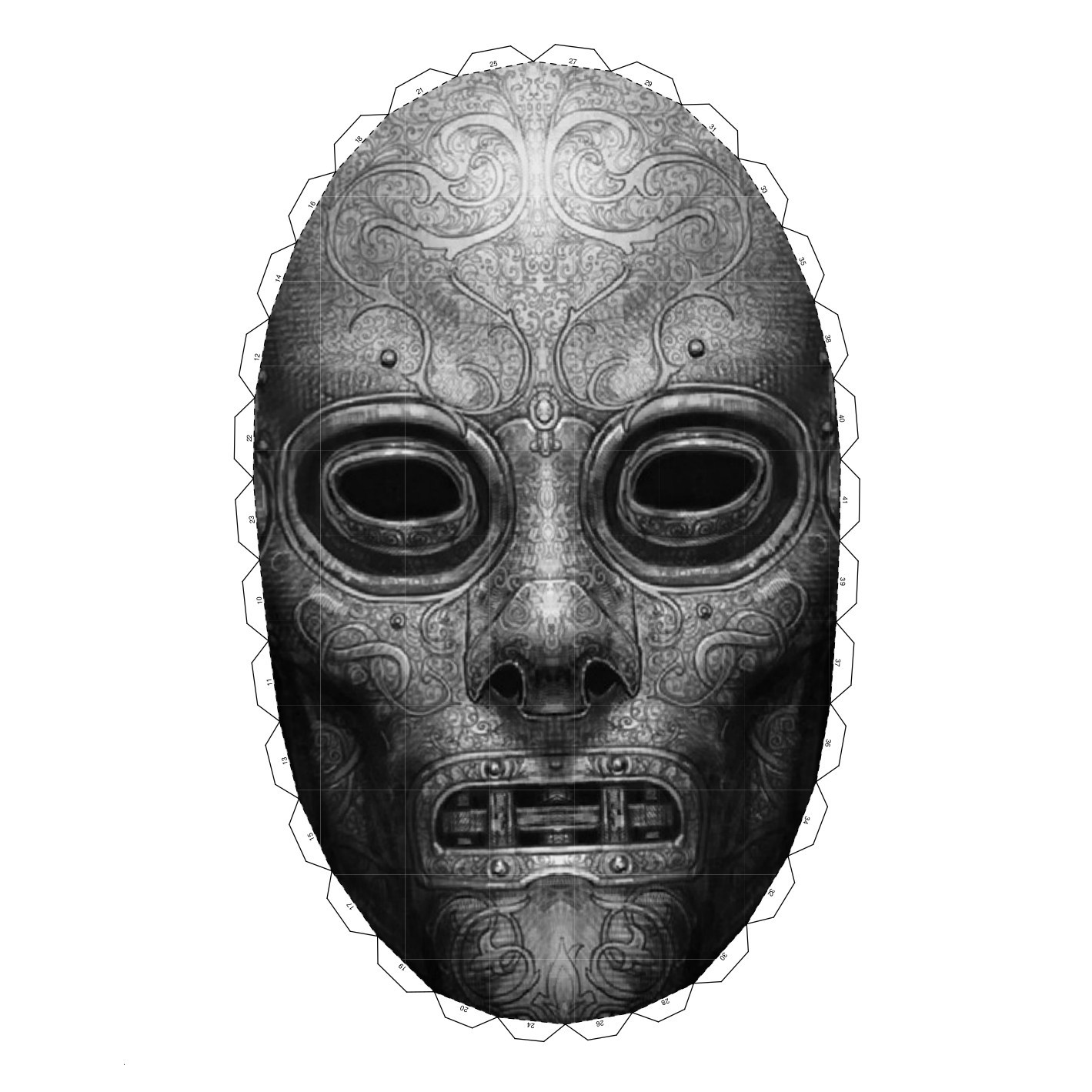death eater mask death eater39s mask the amount of film props to see at eater death mask