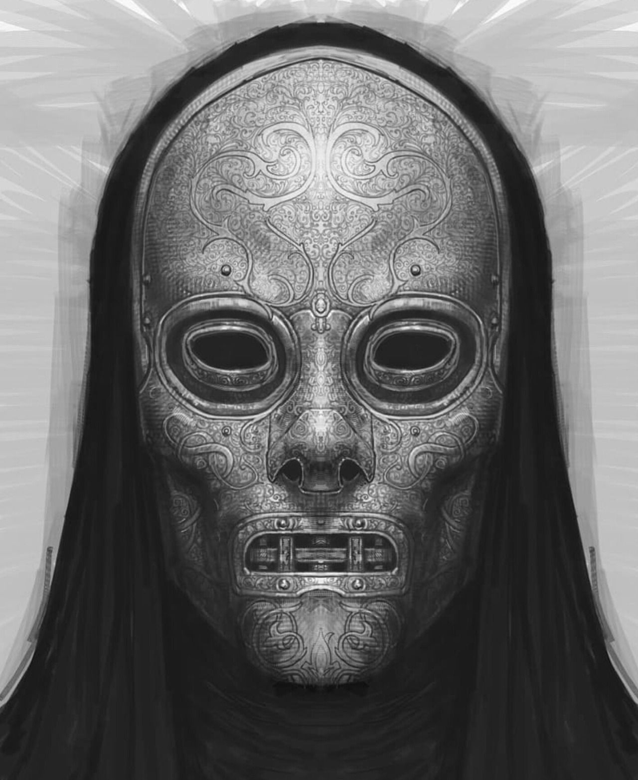 death eater mask rob bliss concept art characters art concept art mask eater death