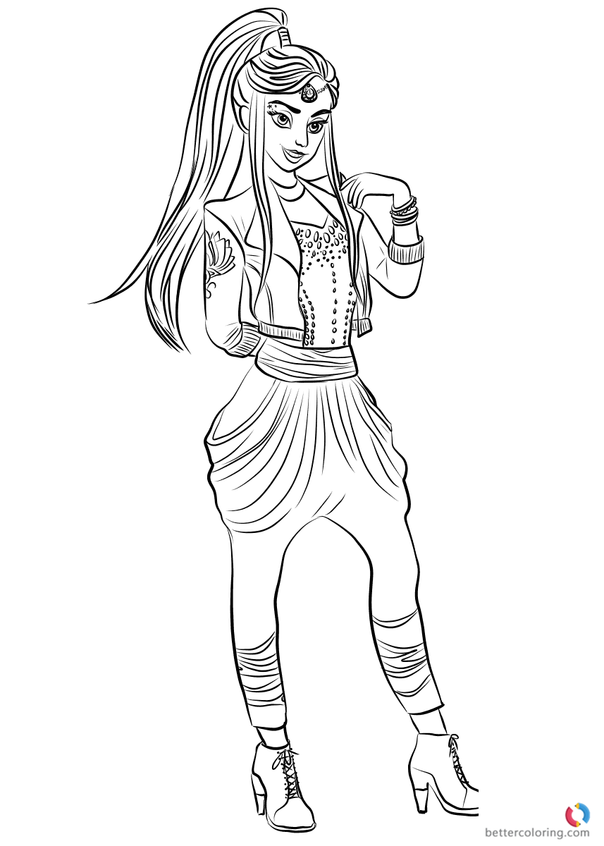 descendants 2 coloring sheets jay from descendants 2 coloring pages printable for kids descendants coloring 2 sheets