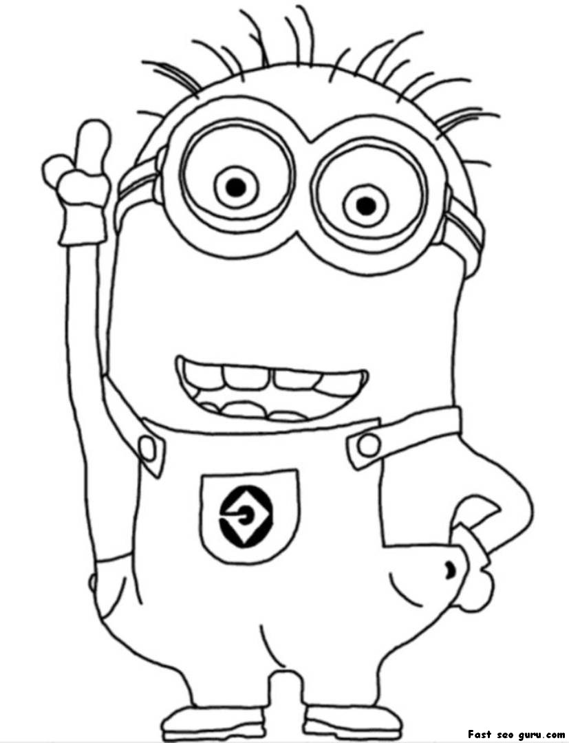 despicable me minions coloring pages minion coloring pages bob all versions and poses coloring pages minions me despicable