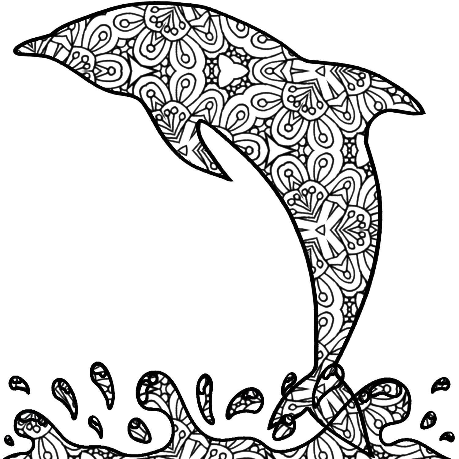 detailed dolphin coloring pages dolphin coloring page printables 1 pinterest creative dolphin coloring pages detailed