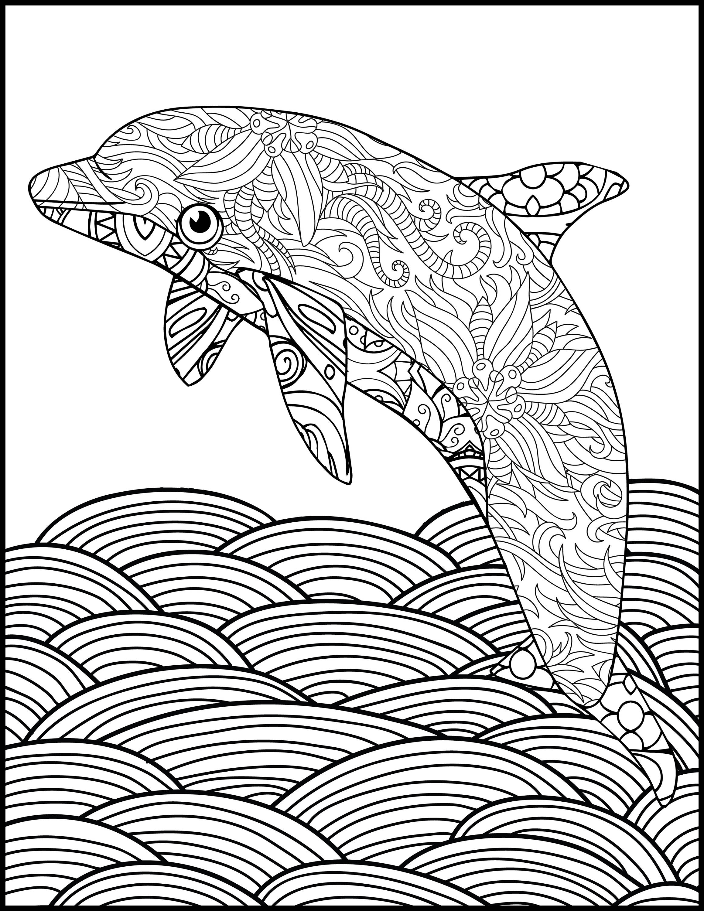 detailed dolphin coloring pages dolphin coloring pages free for kids gtgt disney coloring pages dolphin coloring detailed pages