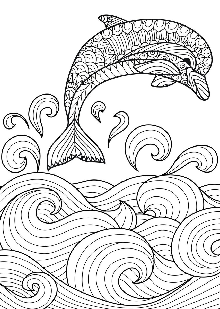 detailed dolphin coloring pages welcome to dover publications dolphins dream designs coloring pages dolphin detailed