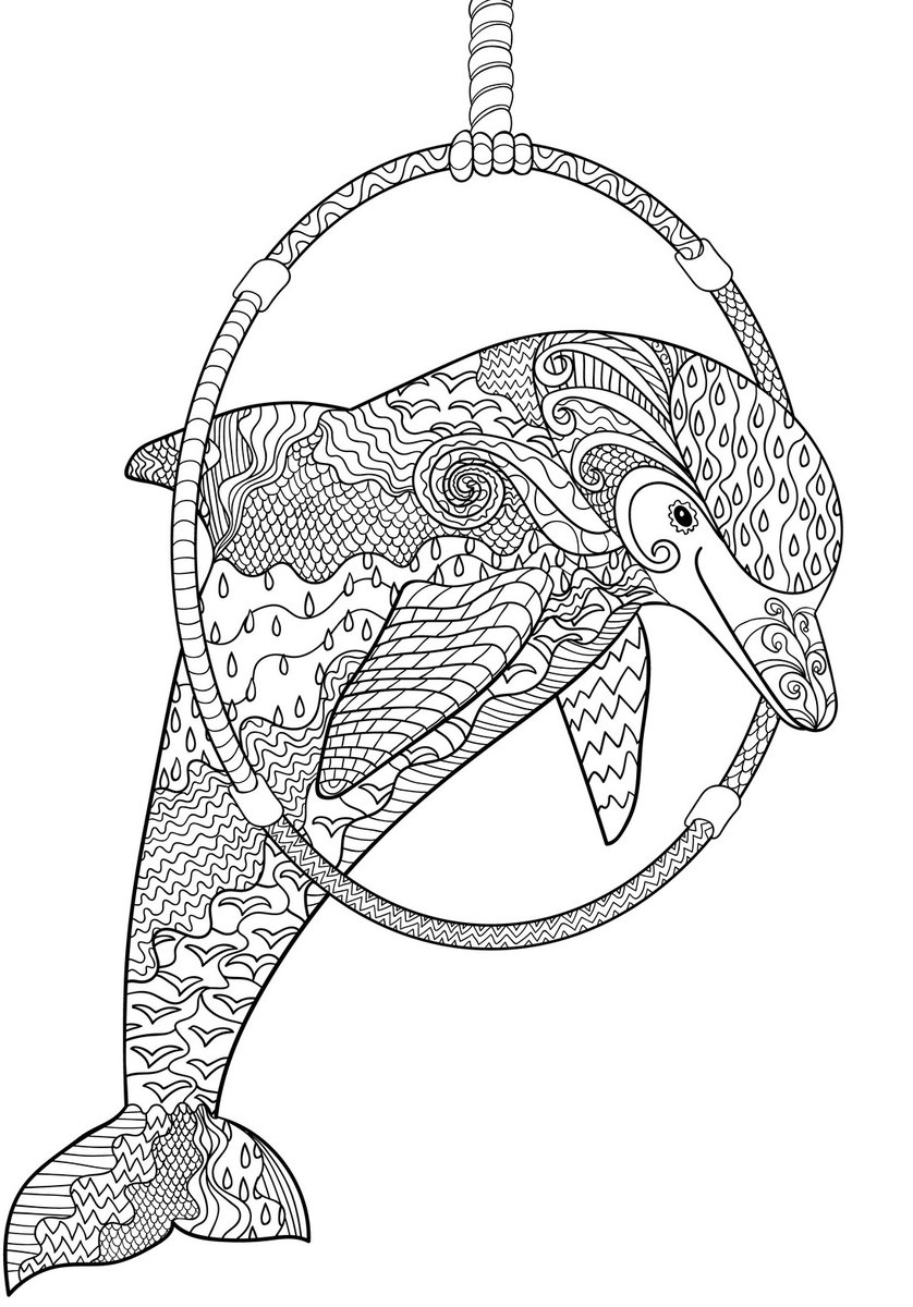 detailed dolphin coloring pages zentangle coloring pages printable free coloring sheets detailed dolphin coloring pages