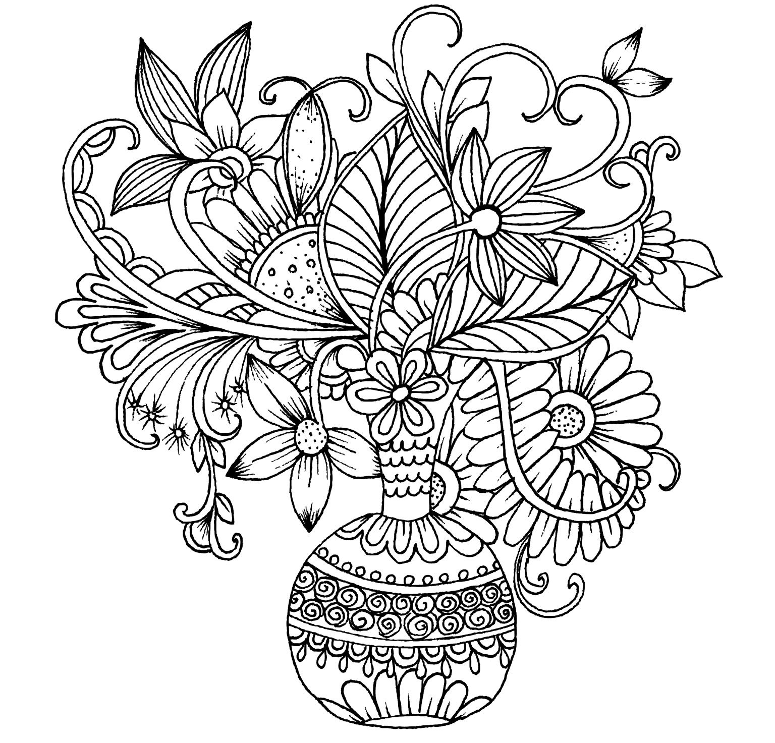 detailed flower coloring pages beautiful flowers detailed floral designs coloring book coloring pages detailed flower