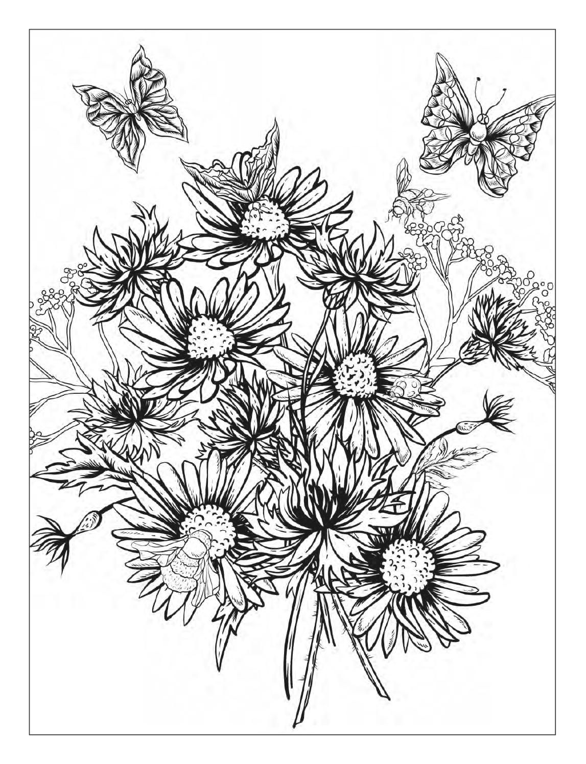 detailed flower coloring pages detailed flower coloring pages flower coloring detailed pages