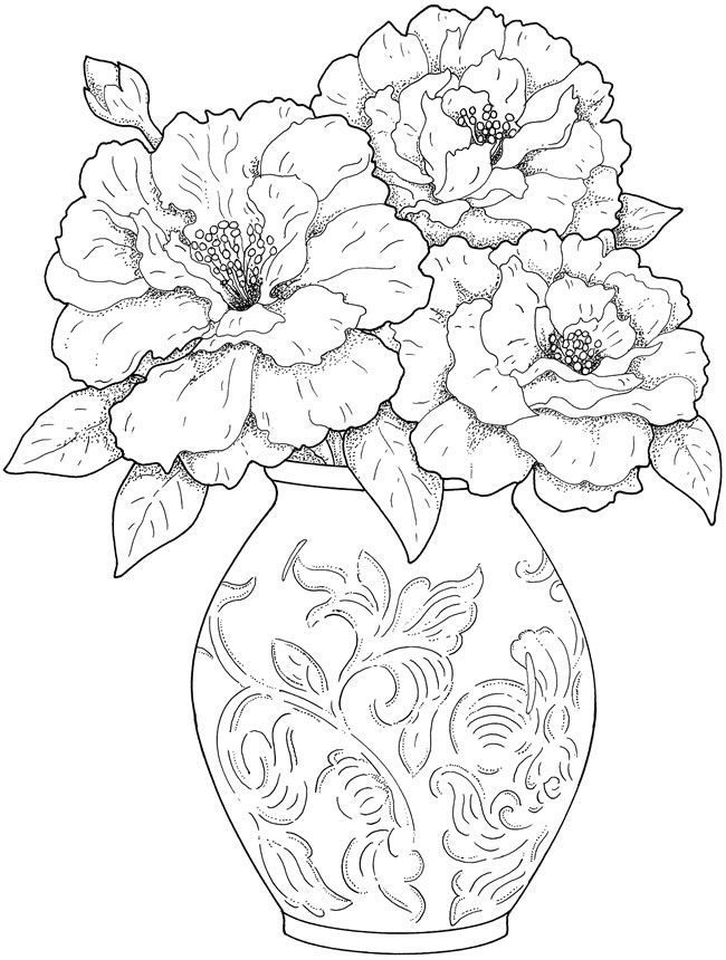 detailed flower coloring pages detailed flower coloring pages to download and print for free coloring detailed flower pages