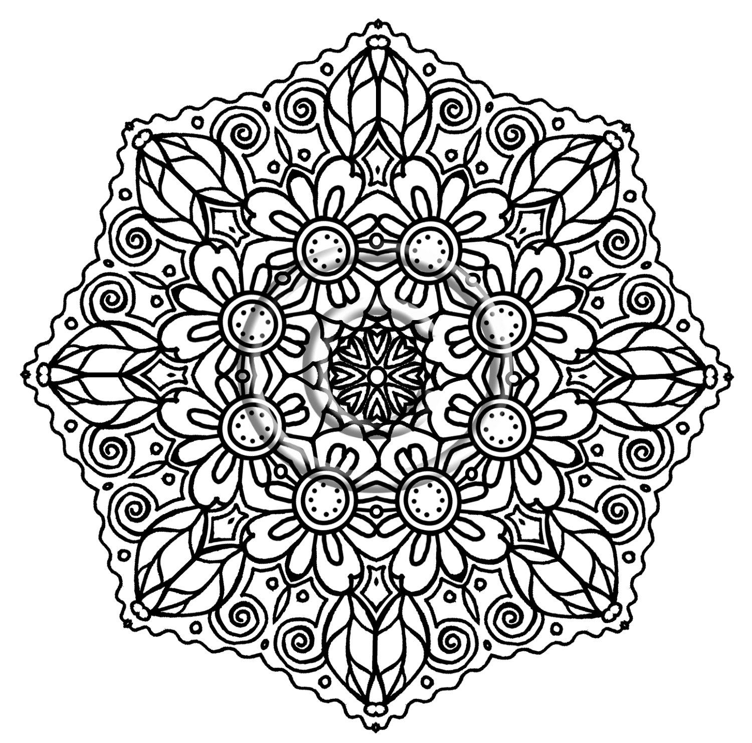 detailed flower coloring pages detailed flower coloring pages to download and print for free detailed coloring flower pages 1 1