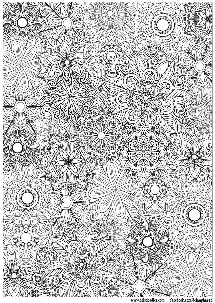 detailed flower coloring pages detailed flower drawing at getdrawings free download detailed flower pages coloring
